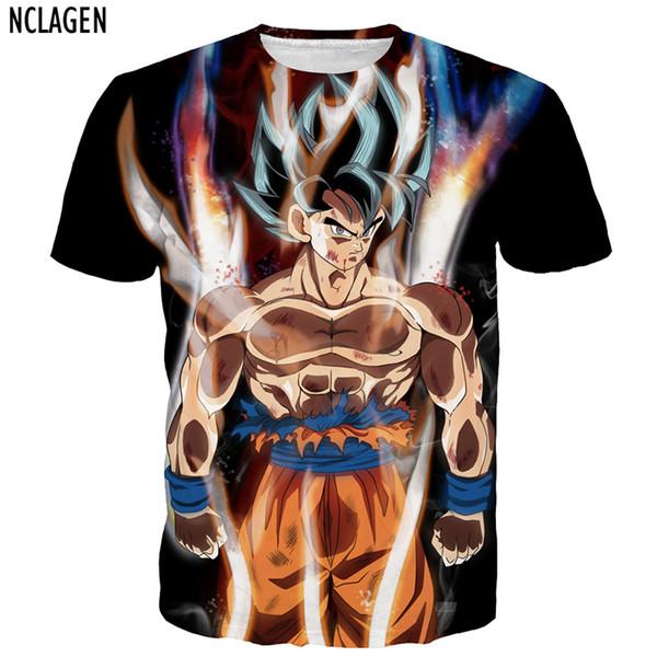 0863e5ad3f3 Nclagen Men 3d T Shirt Dragon Ball Z Ultra Instinct Son Goku Super Saiyan  God Blue