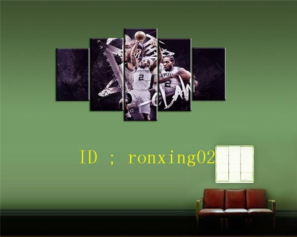 Kawhi Leonard шпоры 5 шт. Home Decor HD печатный современное искусство живопись на холсте (без рамы / в рамке)