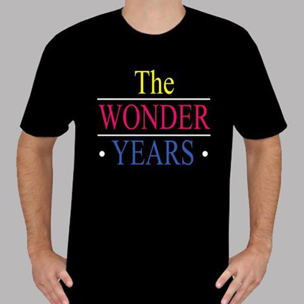 New The Wonder Anos 80's 90 s TV Show Dos Homens T-Shirt Preta tamanho S Para 3XL T Shirt O Pescoço Personalidade Verão Moda Masculina