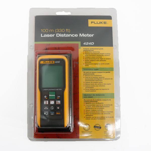 Laser Distance Meter Fluke 424D Storage of The Last Twenty Measurements for Quick Recall of Distance