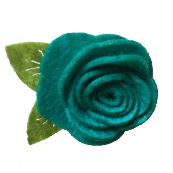 Handmade Felt Rose Flower Diy for BabyGirl Hair accessories Headband ToddlerHats Hair Band Ornaments 4CM Photo Props 20Pcs/Lot