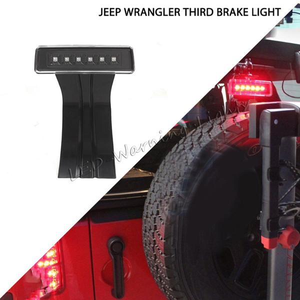 10pcs vente chaude LED feu arrière 12V haute montage stop lampe troisième feu stop pour Jeep Wrangler TJ JK 2007-2015