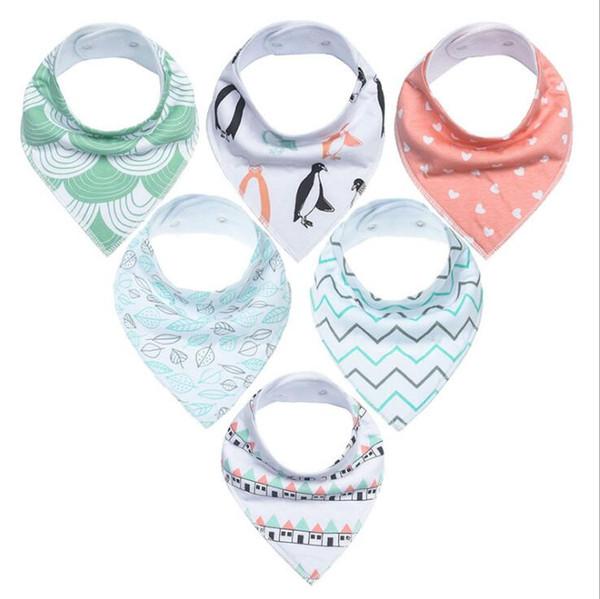 INS fox bibs Burp Cloths new baby girls boys waterproof Pure cotton double layer bibs burp cloths