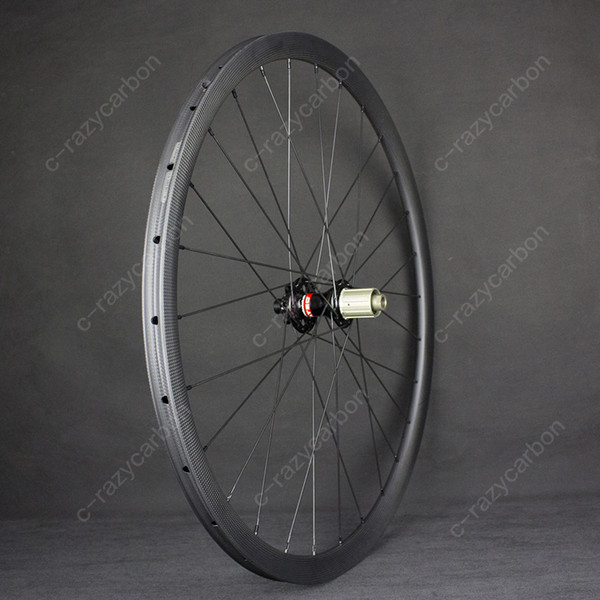 OEM Wheels Hot 700c Road Bicycle 30/35/38/50/60/90mm Chinese Carbon Best Road Wheels Disc Brakes With Novatec D711/712SB