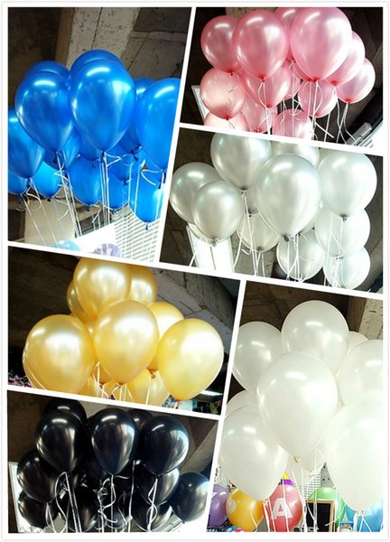 Hot Sale 12inch 2.8G 100pcs/lot Latex Balloons HeliumThick Pearl Halloween Balloon Wedding Party Birthday Decorations Toy gifts