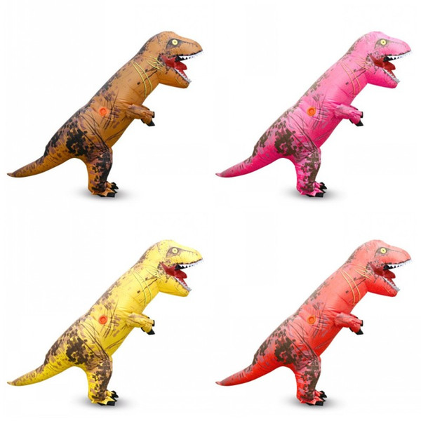 Novelty Multi Color Animal Clothing Cartoon Polyester Fabric Fancy Dress Waterproof Inflatable Dinosaur Costume For Halloween Decor 150hh BB
