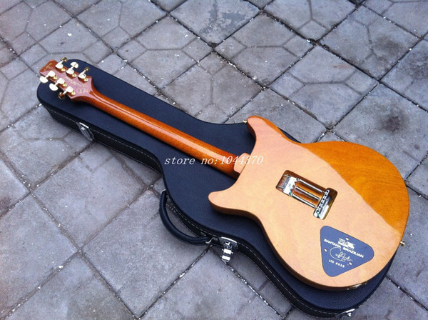 Wholesale - New Arrival SANTANA Model electric Guitar yellow burst with case+ Free shipping!