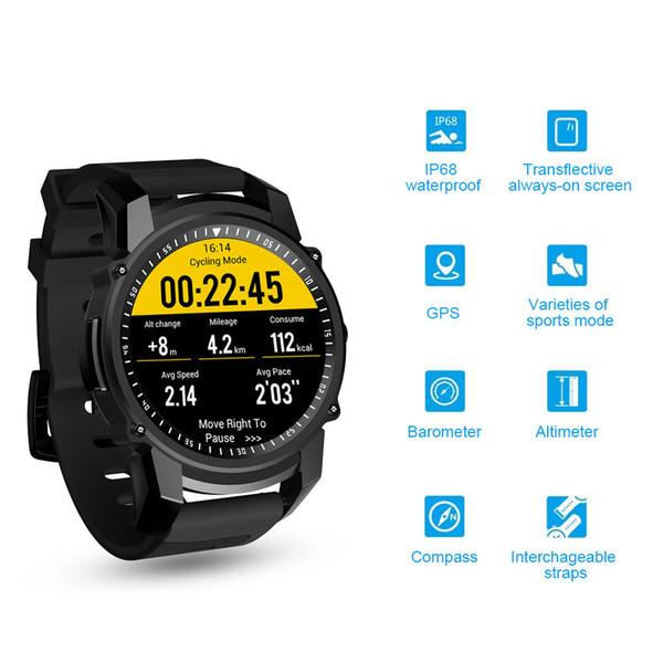 IP68 Waterproof o podómetro esperto do monitor da frequência cardíaca do relógio de GPS do punho do bracelete