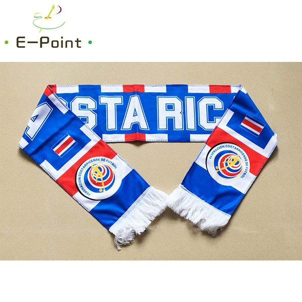 145*16 cm Size Costa Rica National Football Team Scarf for Fans 2018 Russia Football World Cup Double-faced Velvet Material