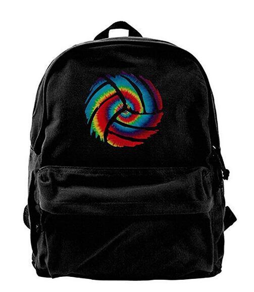 Cor do arco-íris Voleibol Mochila de Lona Mochila de Viagem Mochila Daypack Mochila Laptop Bolsa de Ombro