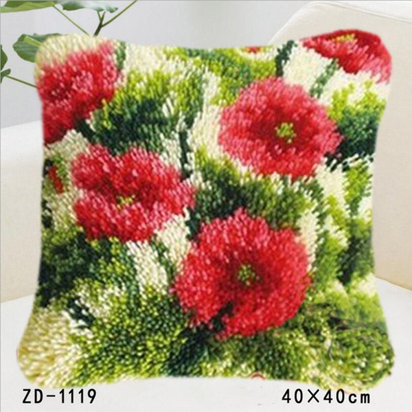 2018 New Style Vivid Flowers Series Christmas Festival Cushion Cover Sofa Pillow Case One Side Paint Pillow Cover Bedroom Sofa Decoration