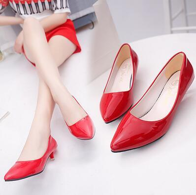 2018 Summer Women Pumps PU shoes Ladies Sexy shoes fashion Low Heels Party Shoes summer Sandles