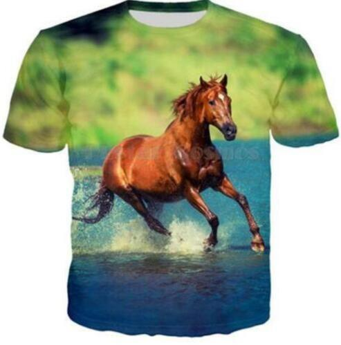 Animal Horse 3d Print Funny T Shirts Fashion Women/Men Short Sleeve Tshirt Summer Funny Tee Shirt Breathable Tops Clothing