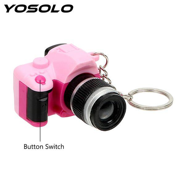 YOSOLO Car Ornament Gift Flash Light & Buzzle Mini Camera Keyring Key Chain Auto Accessories Car Styling