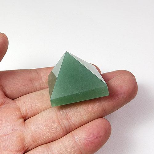 5pcs Aventurine Quartz Crystal Pyramid For Healing Clear Positive Psychic Energy Reiki Tumbled Stone Home Office Gift Loose Quadripod New