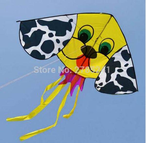 59 inç sevimli sarı Köpek hayvan uçurtma açık eğlenceli spor çocuk oyuncakları uçan hattı ile çocuklar için