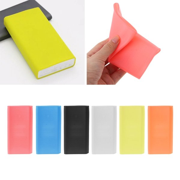 OOTDTY Anti-slip Silicone Rubber Case Cover For Xiaomi Power Bank 2 20000 mAh Protector