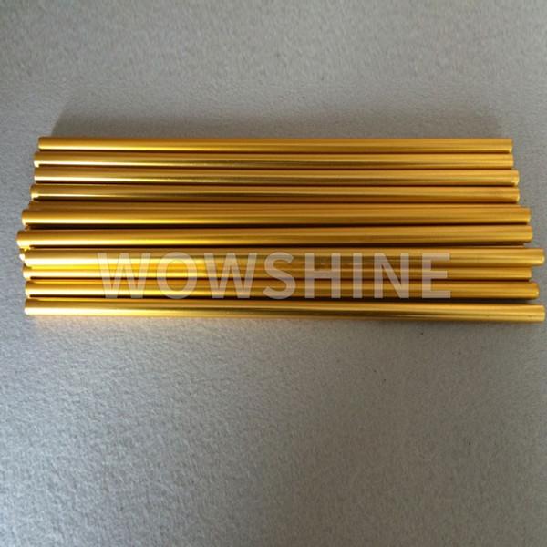 WOWSHINE Free shipping shiny gold color aluminum drinking straws 25pcs/lot grade juicy straws
