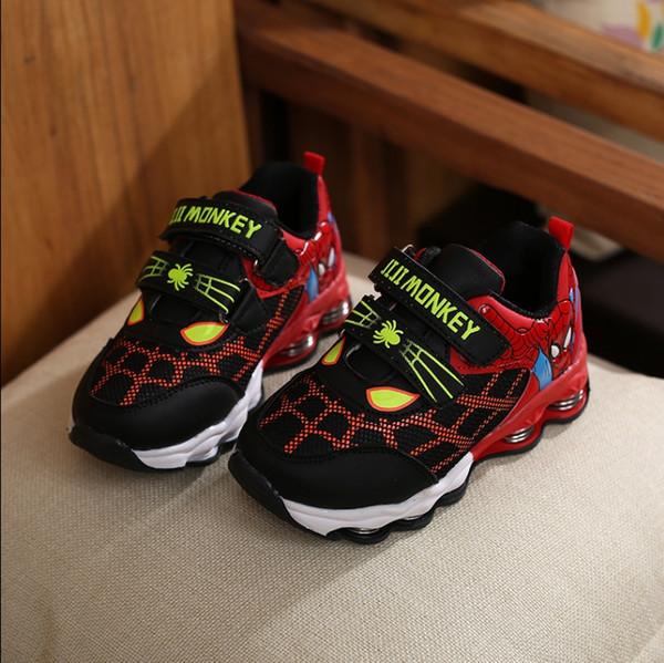 Children's Spider-Man Children's Shoes Boys Shoes 2018 New Autumn Korean version of the big children's wild mesh sports shoes tide