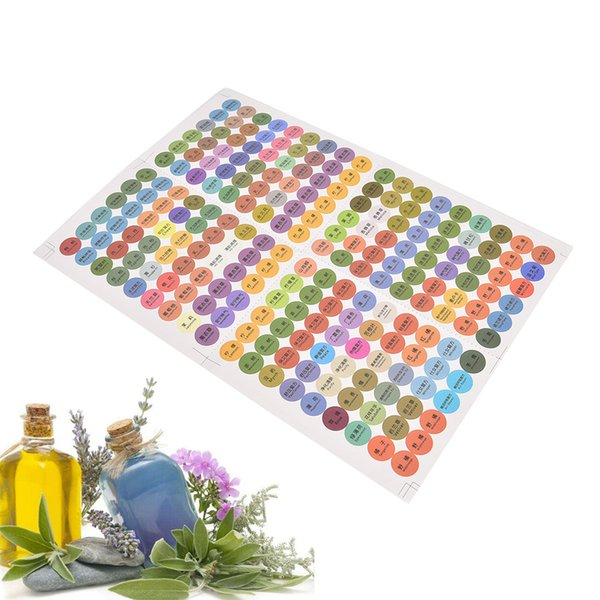 216Pcs/Sheet Pre-printed Essential Oil Boles Cap Lid Labels Round Circle Stickers colorful for Young Living oils organizer