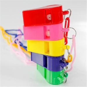 Best-chioce 24pcs Plastic Whistle & Lanyard School Soccer Sport cheerleading Whistle Training Football Whistle Referee Whistlekids toys