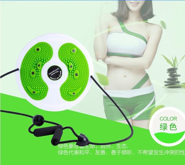 Com cabo de resistência bandas cinto magnético twister placa de torção stepper saúde cintura fina home yoga gym fitness