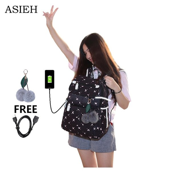 school bags for teens Girl waterproof laptop backpack student fashion school bag cute backpack for kids shoulder bag