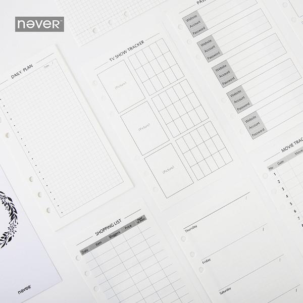 Compre Nunca Espiral Cuaderno A6 Papeles De Relleno Diario Libro ...