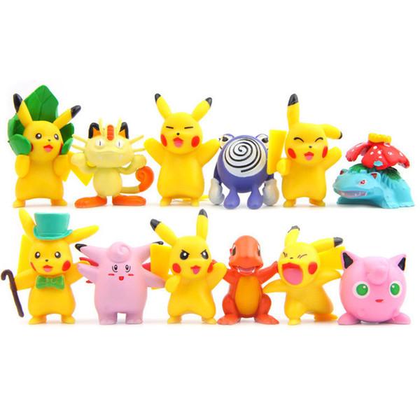Acheter Loz Set Kawaii Mignon Haute Qulity Pikachu Anime Action Figure Pvc Modèle Décoration Jouets Peut Convient Pour Balles Film De Bande Dessinée