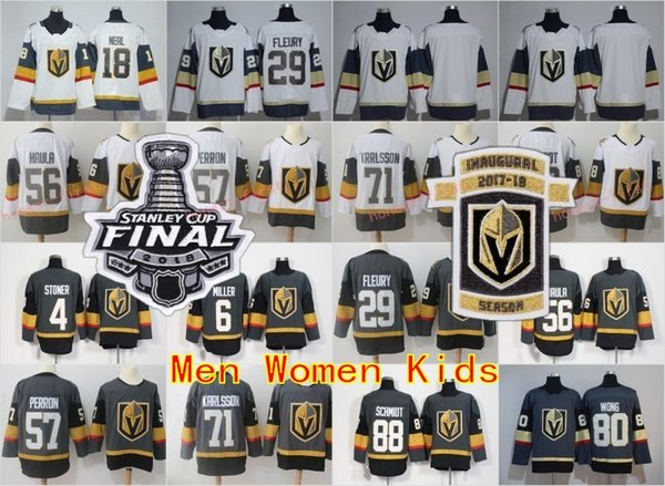 top popular 2018 Stanley Cup Finals Vegas Golden Knights 71 William Karlsson Jerseys Nate Schmidt Jonathan Marchessault David Perron James Neal Hockey 2019