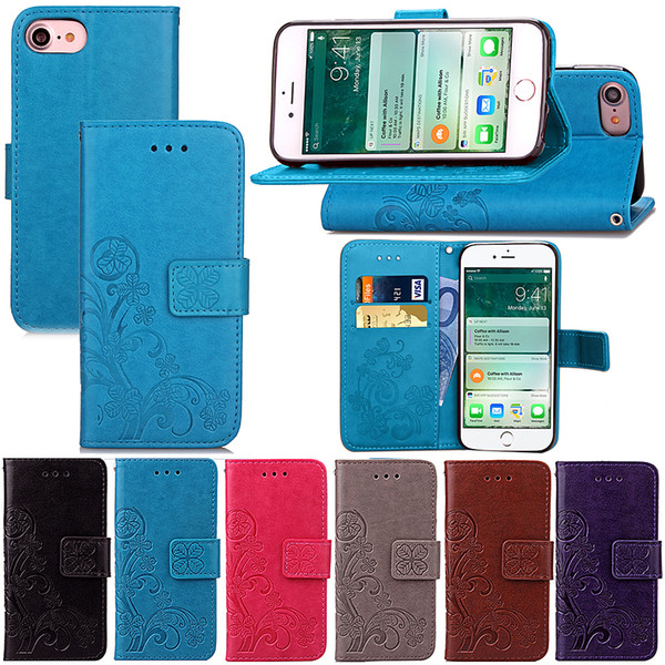 Premium PU Leather Flip Fold Wallet Case with [ID&Credit Card Slot] for Apple iPhone 5 5s 5c 6 6S 7 8 Plus X XS Max XR
