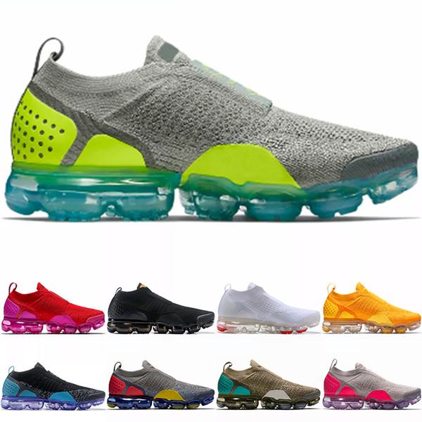 Nike Air Vopormax MOC Скидка Moc 2.0 Кроссовки Мужчины Женщины Трехместный Черный Белый Униве
