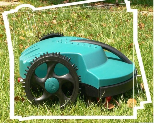 The Cheapest Automatic Robot Lawn Mower 158 with Lead-acid Battery(Auto recharge,Remote Control,rain sensor,waterproof,CE&ROSH)