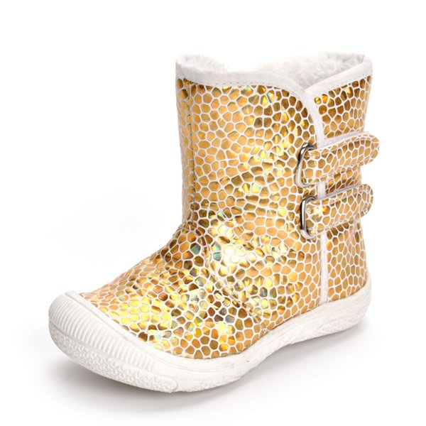 Hot SALE Children Shoes Toddler Newborn Baby Boy Girl Gold PU Leopard Boots Prewalker Warm Martin Shoes