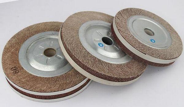 best selling 100 125 150 200 250mm Polishing Wheel Flange Abrasive Flap Wheel Sanding Cloth Mop Wheel Metal Wood Polishing Grinding