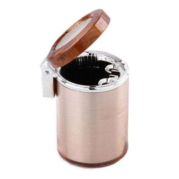Cendrier universel chaud de voiture avec la lumière LED Portable Cendrier sans fumée Cigarette Holder Cup Accessoires intérieurs de voiture