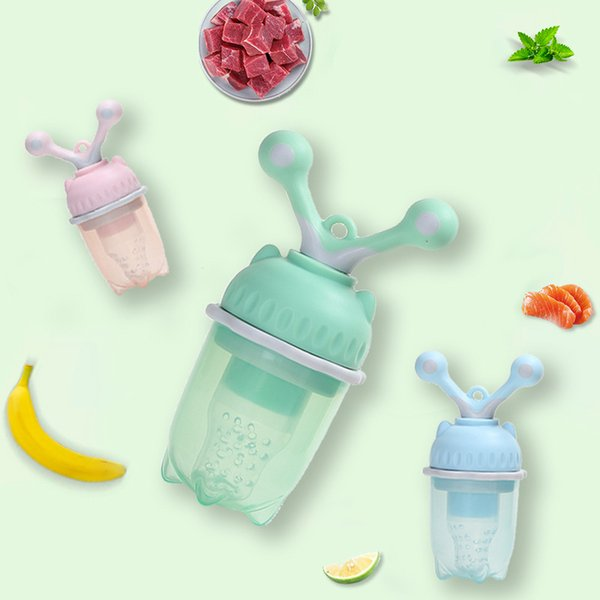 BPA Free Baby Fruit Feeder Pacifier - Fresh Food Feeder, Infant Fruit Teething Toy, Silicone Pouches for Toddlers & Kids