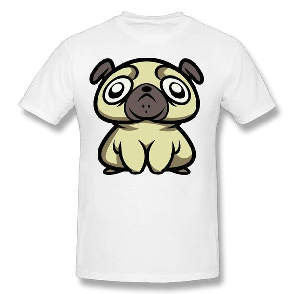 Men's Creepy Pug 100% Cotton Prints Casual Short Sleeve Tee New 2018 Fashion Mens T-shirts Middle Aged Top Tee