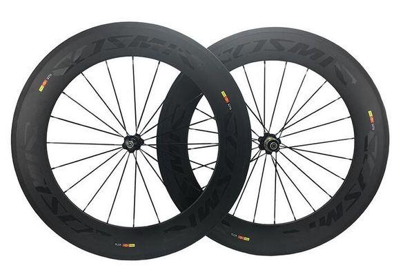 88MM bob cosmic carbone SLR bike/bicycle Wheelset road bike parts Clincher Carbon Wheels complete carbon wheelset