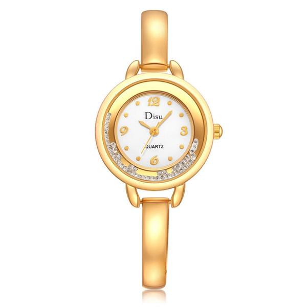 GENBOLI Femmes Montres À Quartz Horloge Simple Bracelet En Acier Cristal Dames Robe Bracelet Montres Pour Hommes Couple Cadeaux