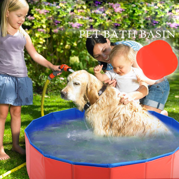 Pet Products Large PVC Foldable Swimming Pool Bathtub for Dog and Cat Teddy