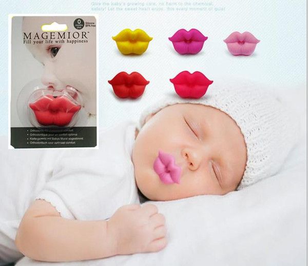 best selling Cute Funny Dummies Pacifier Baby Novelty Maternity Toddler Child Teething Nipples funny Lip Pacifiers