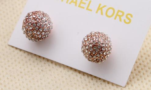 Серия m розовое золото и серебро три цвета на выбор Серьги-гвоздики Супер текстурированные серьги с драгоценными шарами