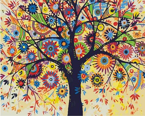 "Full Square/Round Drill 5D DIY Diamond Painting ""Cartoon tree"" Embroidery Cross Stitch Mosaic Home Decor Art Experience toys Gift A0022"