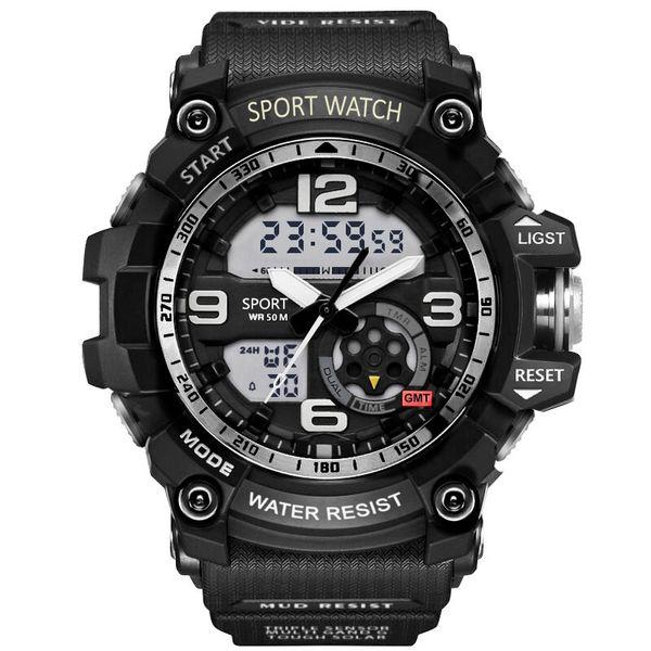 Watch Men 50m Waterproof Wristwatch LED Quartz Clock Sport Watch Male relogios masculino 7591 Sport S Watches Men