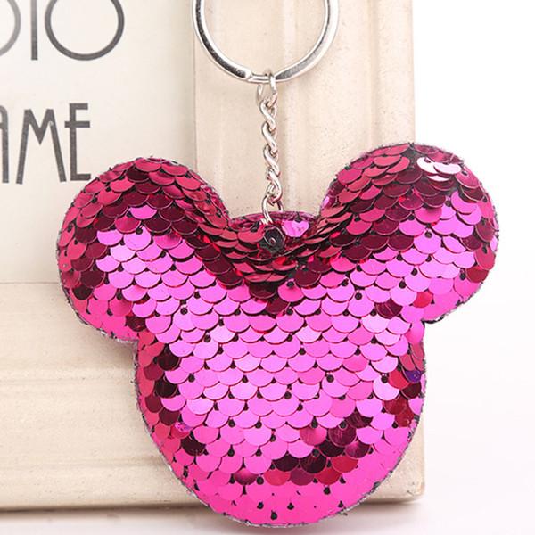 Bonito Chaveiro Chaveiro Glitter Pompom Lantejoulas Chaveiro Presentes para As Mulheres Llaveros Mujer Saco Do Carro Acessórios Chaveiro