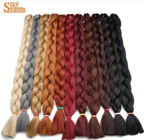 best selling Silky Strands Kanekalon Jumbo Braids Bulk Synthetic Hair 82'' 165g African Braiding Hair Style Crochet Hair