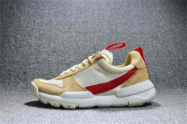 New Tom Sachs Craft Mars Yard 2.0 Space Camp Running Shoes Joint Limited Best Quality AA2261-100 Natural Sport Red Maple Sneakers With Box