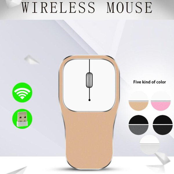 2.4G Wireless Aluminum Mouse Silent Button Ultra thin Mouse Slim Office Mice For Computer Laptop Android Smart TV Box Charging Battery