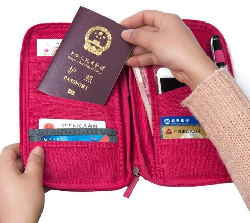 Free Shipping passport storage bag travel functional bag portable passport holder document organizer credit card ID card cash holder